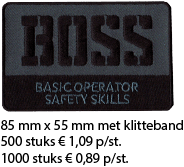 Afbeelding Boss logo badges en patches