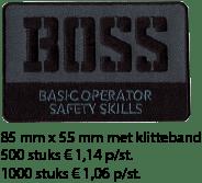Afbeelding Boss logo collega prijs