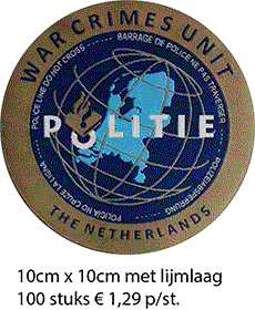 Afbeelding warcrimes Geweven badge - badges en patches