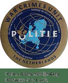 Afbeelding warcrimes Geweven badge - collega prijs
